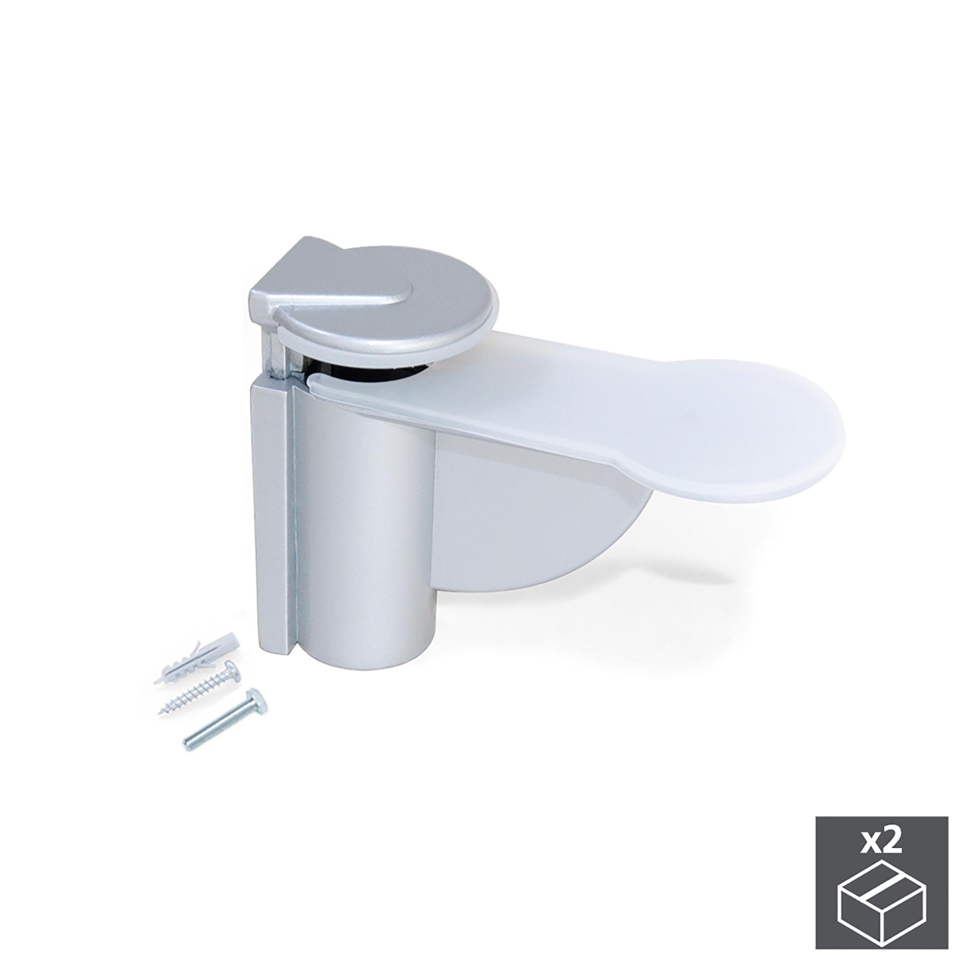 Accessori Per Mensole In Vetro.Reggimensola Venezia Per Ripiani Legno Vetro Emuca