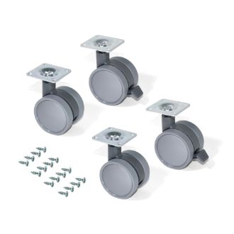Emuca Caster wheels Bowl with a mounting plate