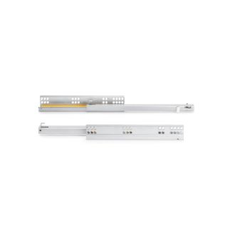 Emuca Set of Silver concealed drawer runners, soft close, partial extraction
