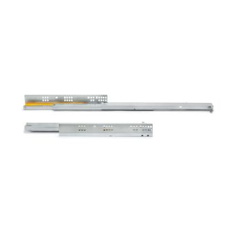 Emuca Set of Silver concealed drawer runners, ball bearings, soft closing, total extraction