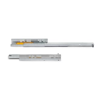 Emuca Set of Silver concealed drawer runners, ball bearings, total extraction, push system