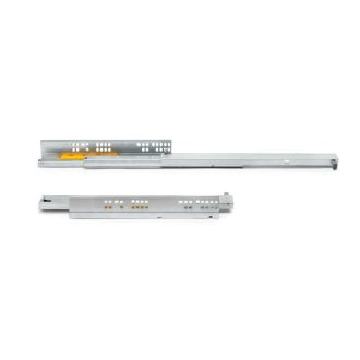 Emuca Set of Silver concealed drawer runners, ball bearings, partial extraction, push system