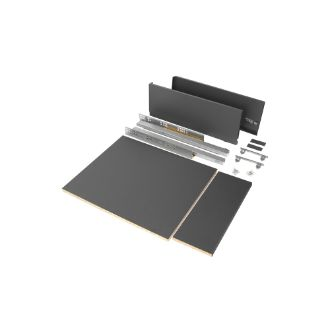 Emuca Vertex drawer kit for kitchen or bathroom, 178 mm height with included boards.