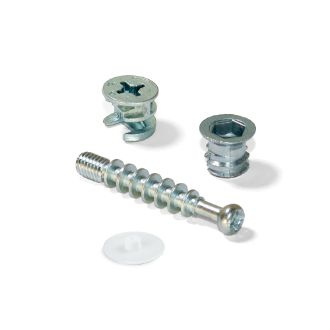 Emuca T15 Cams and dowels kit with bolts and M6 bolt