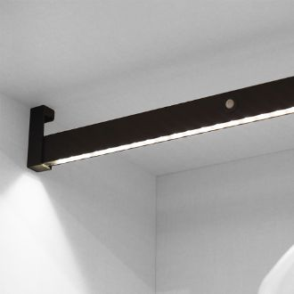 Emuca Castor Hanging wardrobe bar with LED light, removable battery and motion sensor