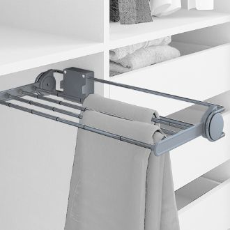Emuca Self pull-out lateral trouser rack