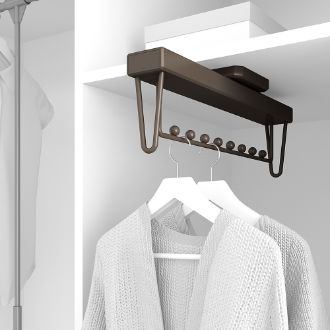 Emuca Moka extractable hanger for wardrobe