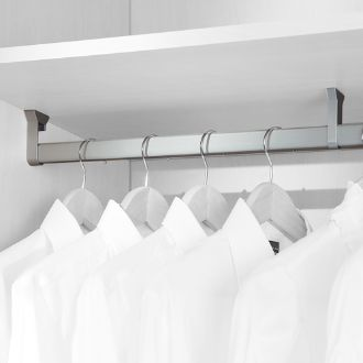 Emuca Silk Oval wardrobe hanging rail with rubber
