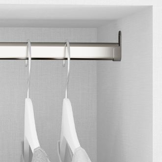 Emuca OvalWardrobe hanging rail kit, 30x15 mm, Steel