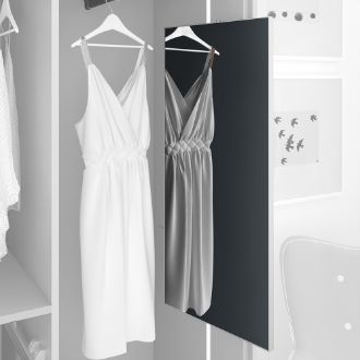 Emuca Keeper extractable mirror for inside wardrobe