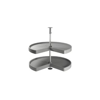 Emuca Shelvo 3/4 circle rotating trays for kitchen cabinets