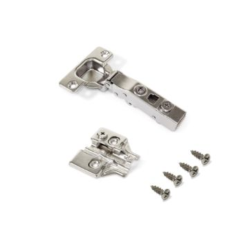 X91 Hinge with soft close, 100º opening, plates for screwing
