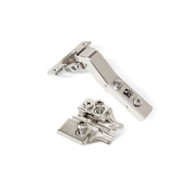 Emuca X91 Hinge, soft close, 45º angular arm, Euro screw