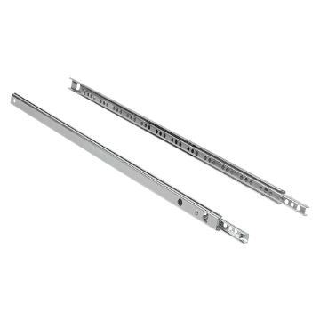 Emuca Set of ball bearing drawer runner with partial extraction, 17 mm