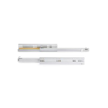 Emuca Silver concealed drawer runners with partial extraction and soft close