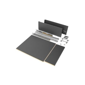 Vertex drawer kit for kitchen or bathroom, 178 mm height with included boards.