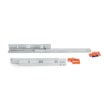 Slippe Concealed drawer runners with total extraction and soft closing with hook