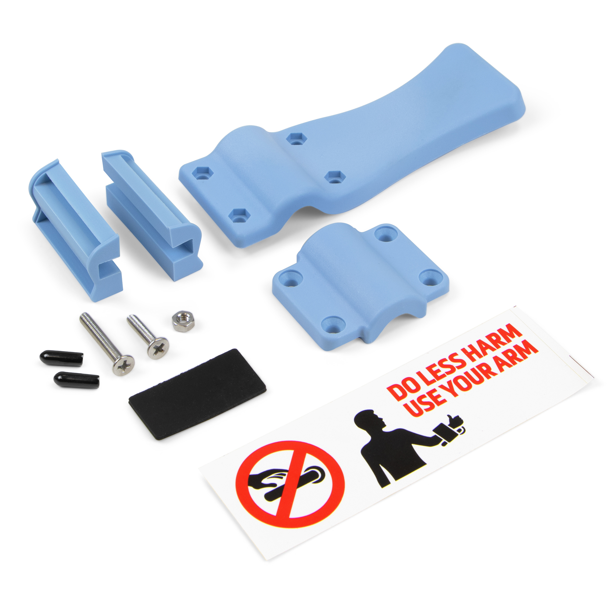 Emuca Meccanismo apriporta senza contatto per l'avambraccio, plastica, blu.