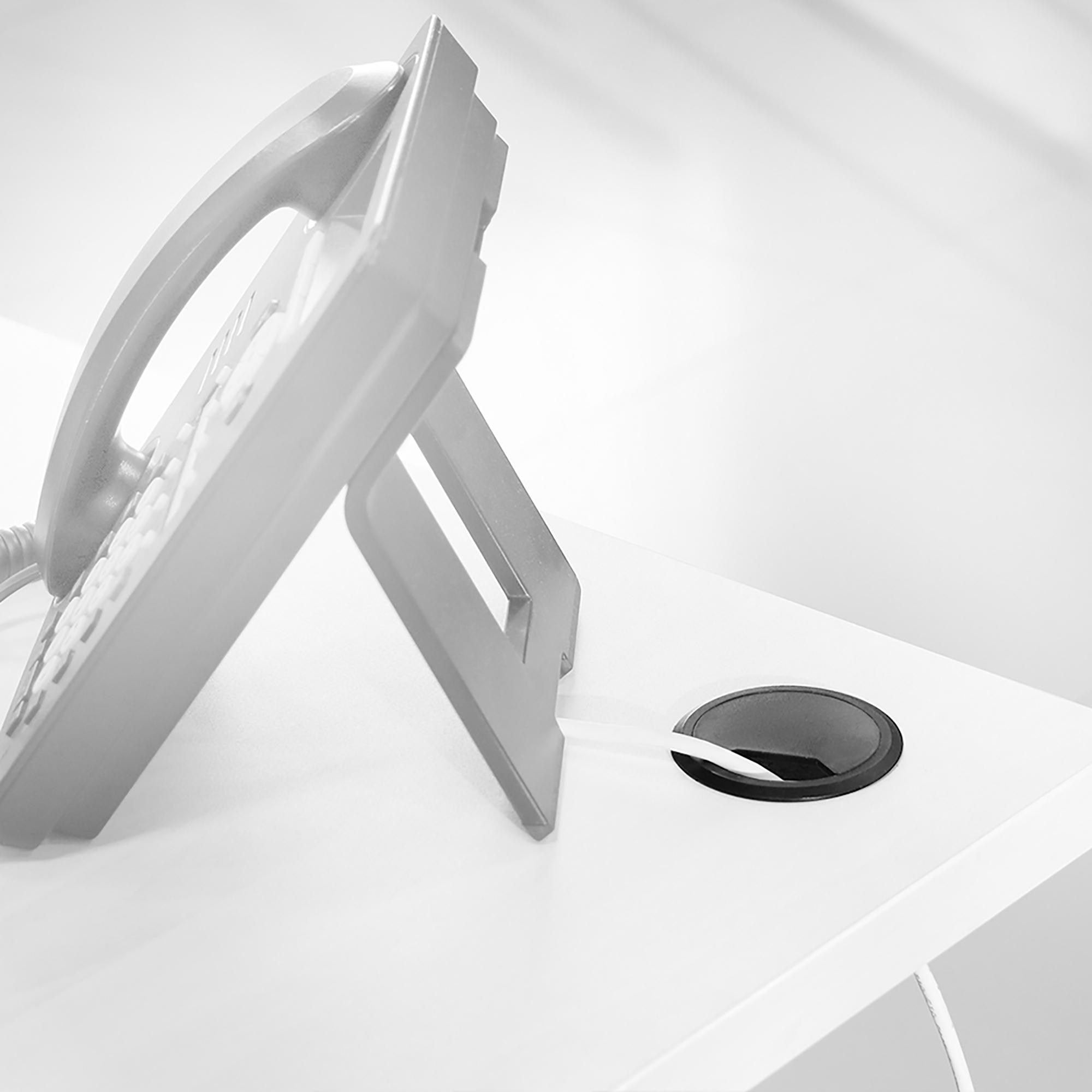 Emuca Passacavi circolare, D. 60 mm, da incasso, Plastica, Nero, 20 u.