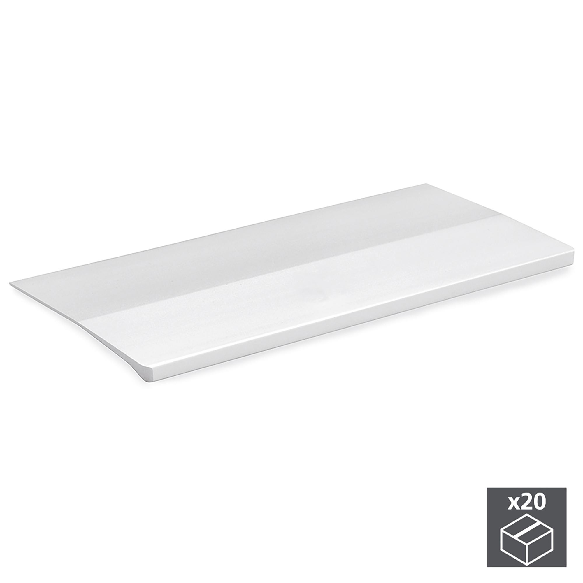 Emuca Maniglie adesive per mobile, 62 mm, Alluminio, Anodizzato opaco, 20 u.