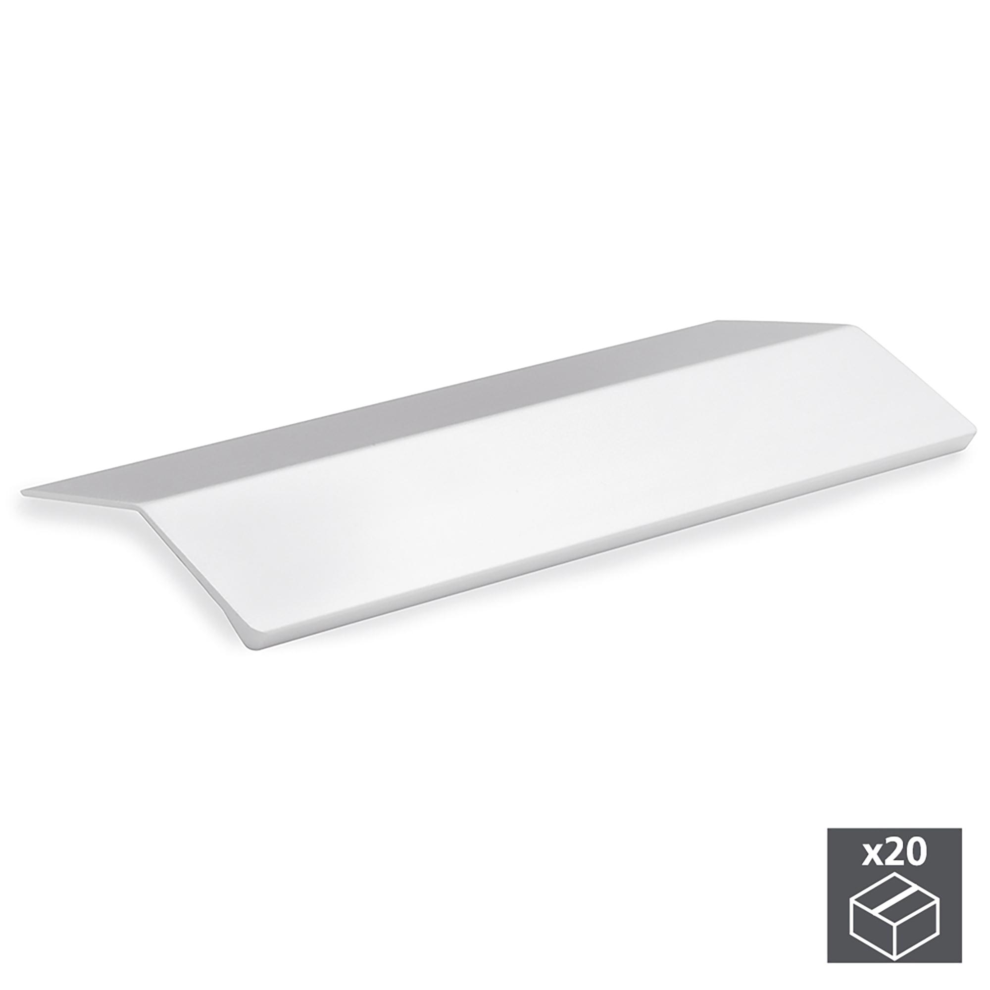 Emuca Maniglie adesive per mobile, 126 mm, Alluminio, Anodizzato opaco, 20 u.