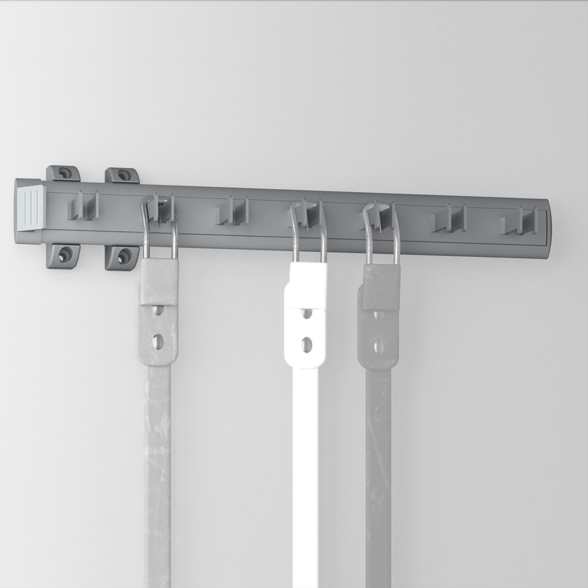 Emuca Porta cinture laterale estraibile per armadio, 447 mm, Alluminio e plastica, Anodizzato opaco