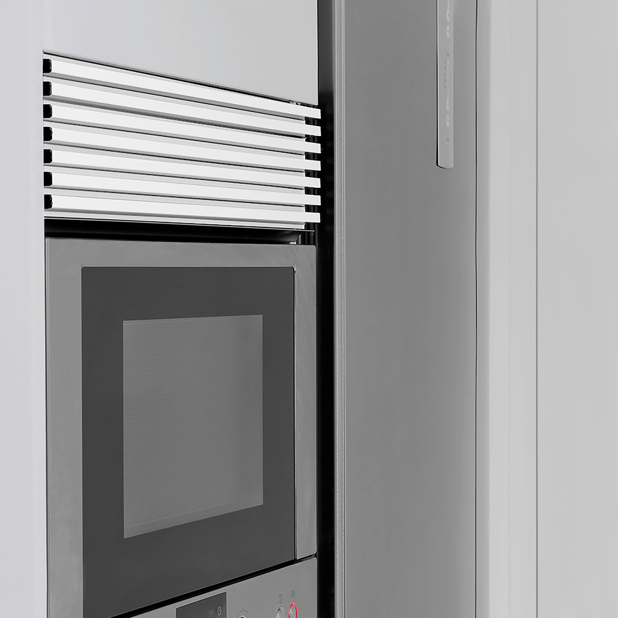 Emuca Griglia forno, modulo 600 mm, Alluminio, Anodizzato inox