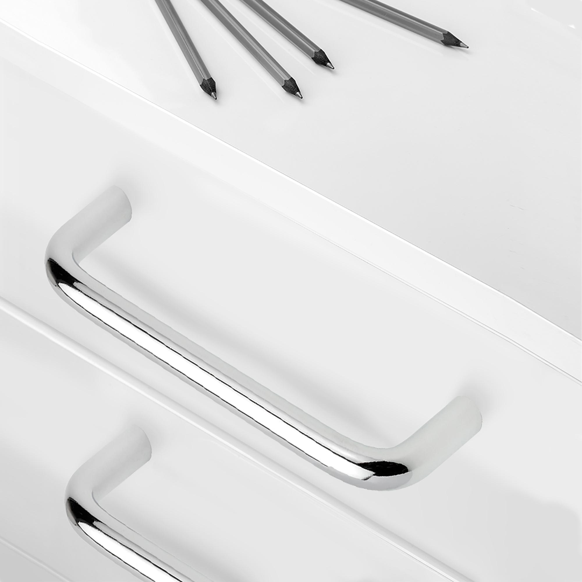 Emuca Maniglie per mobile, D. 8 mm, interasse 96 mm, Acciaio, Cromo opaco