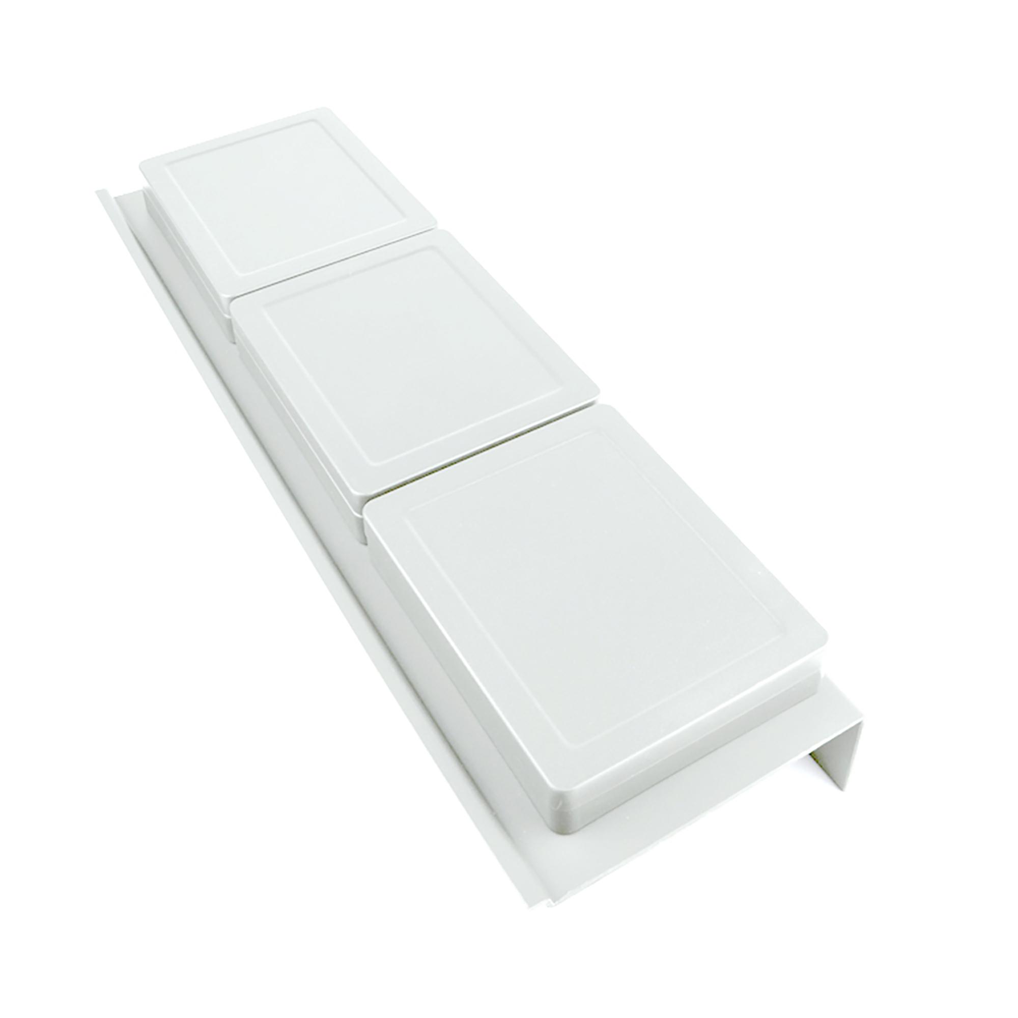 Emuca Organizzatore per cassetti da bagno, 350 mm, Plastica, Bianco