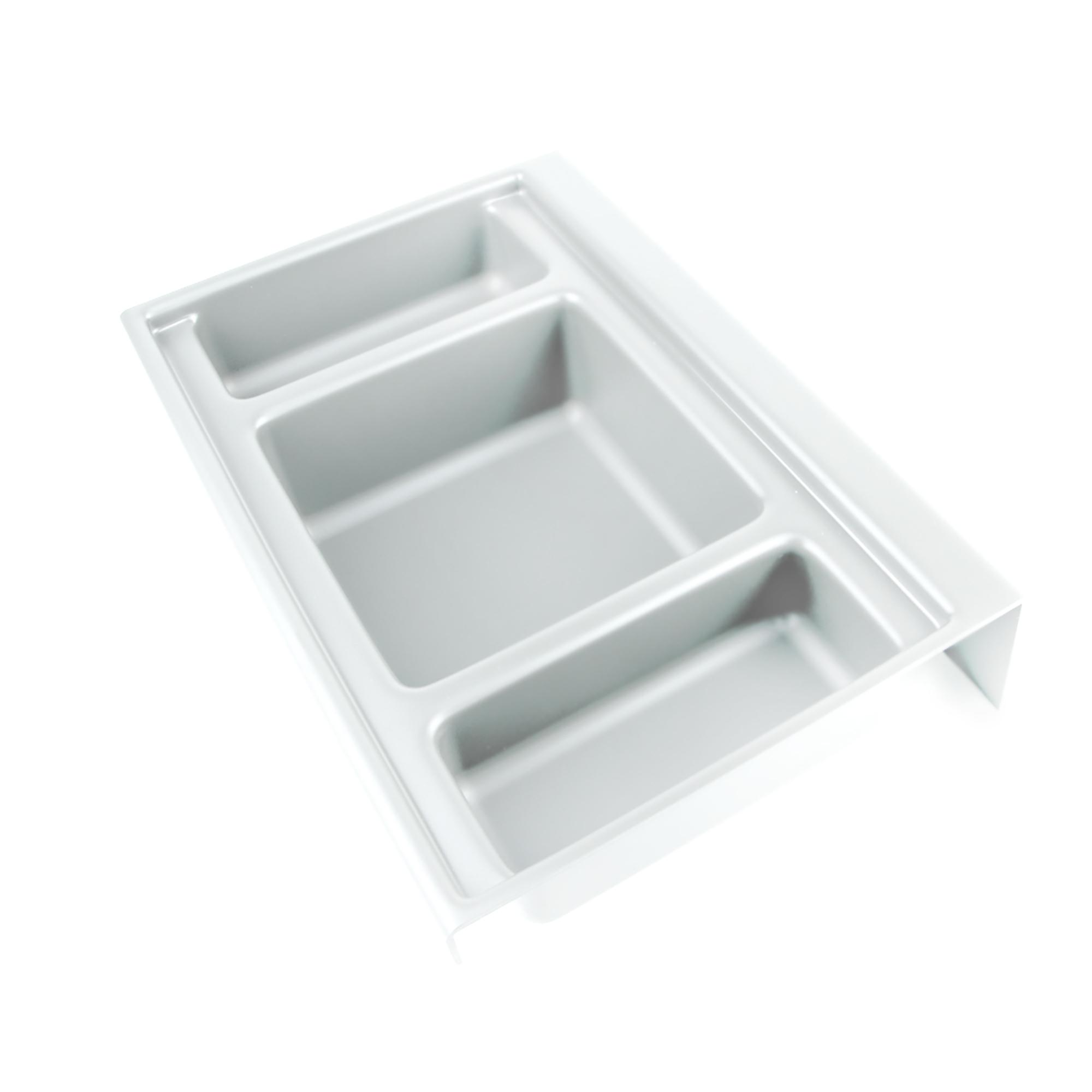 Emuca Base organizzatrice per cassetti da bagno, 350 mm, Plastica, Bianco