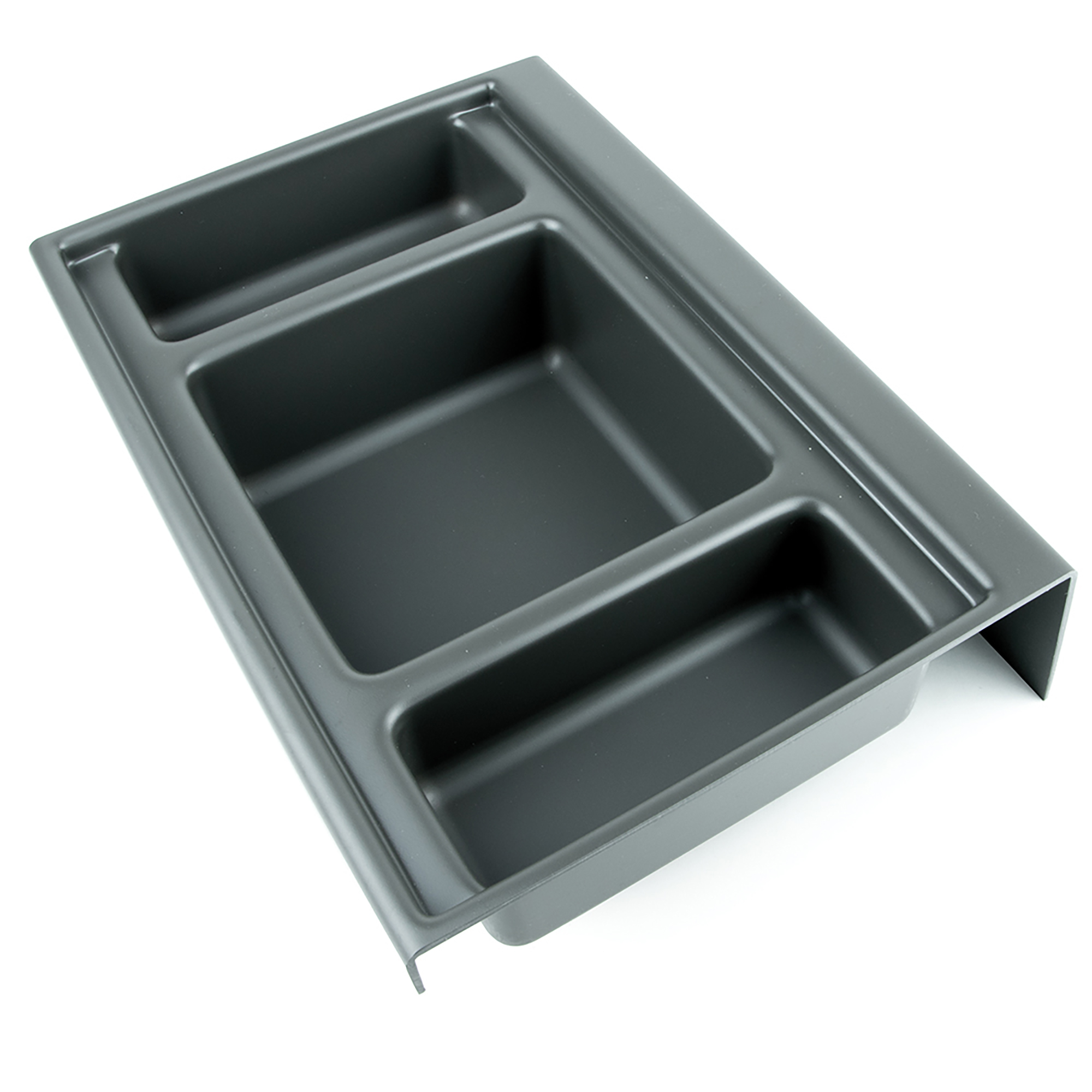 Emuca Base organizzatrice per cassetti da bagno, 350 mm, Plastica, Grigio antracite