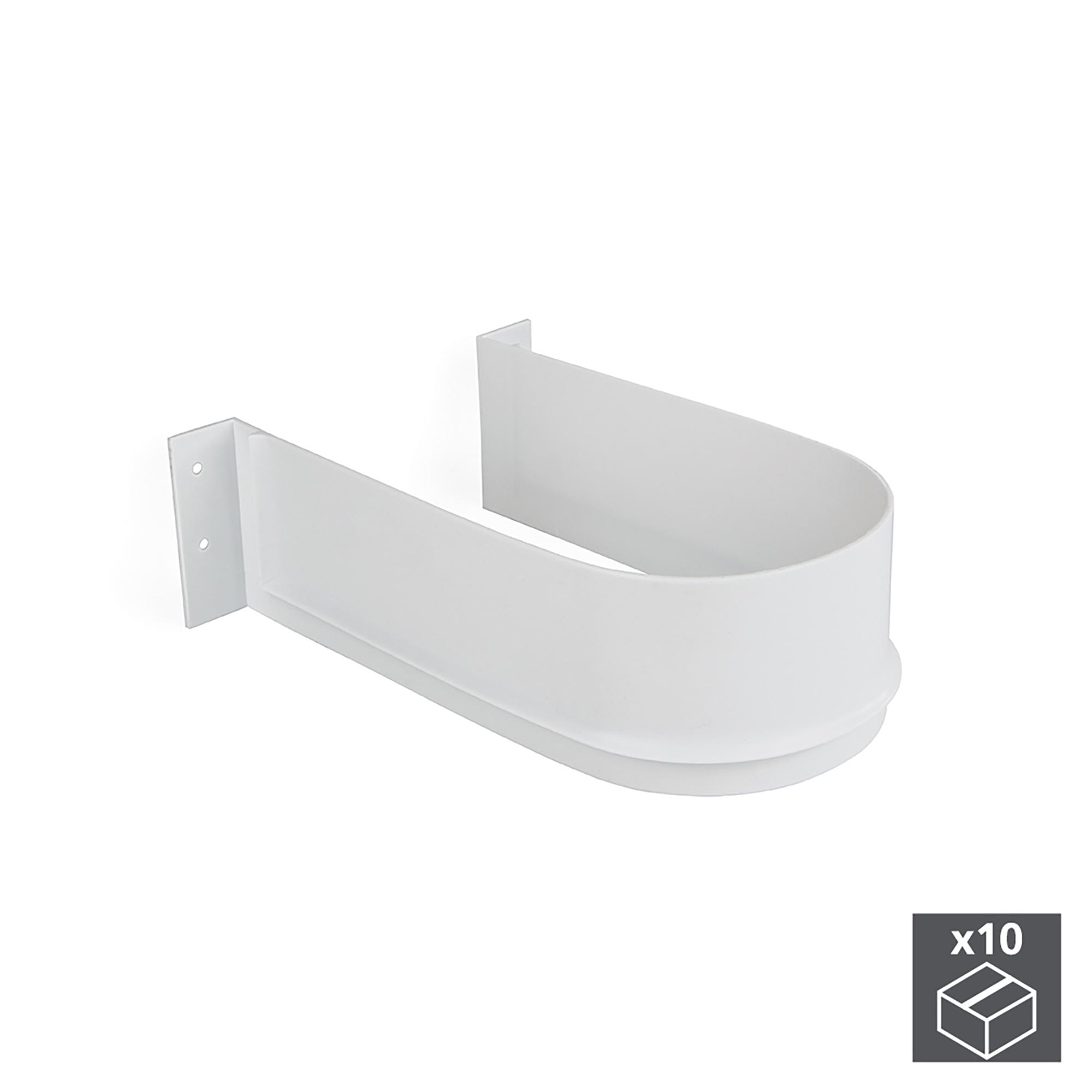 Emuca Salva sifone per cassetti del bagno, curvo, Plastica, Bianco, 10 u.
