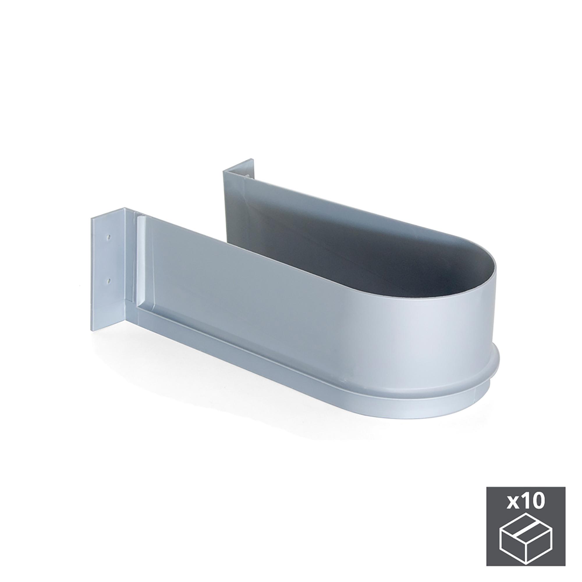 Emuca Salva sifone per cassetti del bagno, curvo, Plastica, Grigio, 10 u.