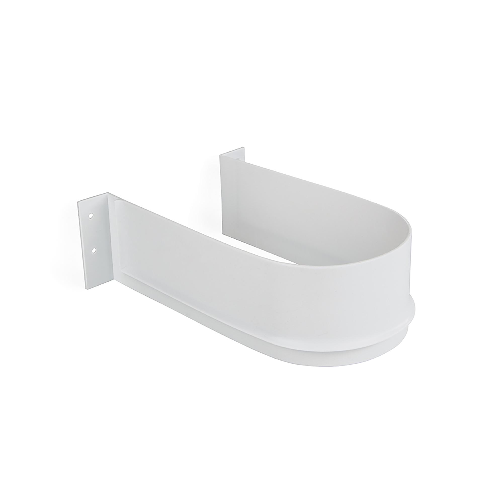 Salva sifone curvo per cassetti del bagno bianco Emuca