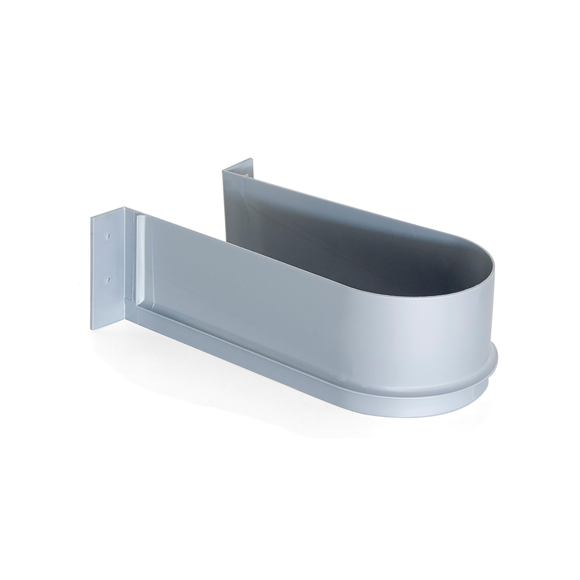 Salva sifone curvo per cassetti del bagno grigio Emuca