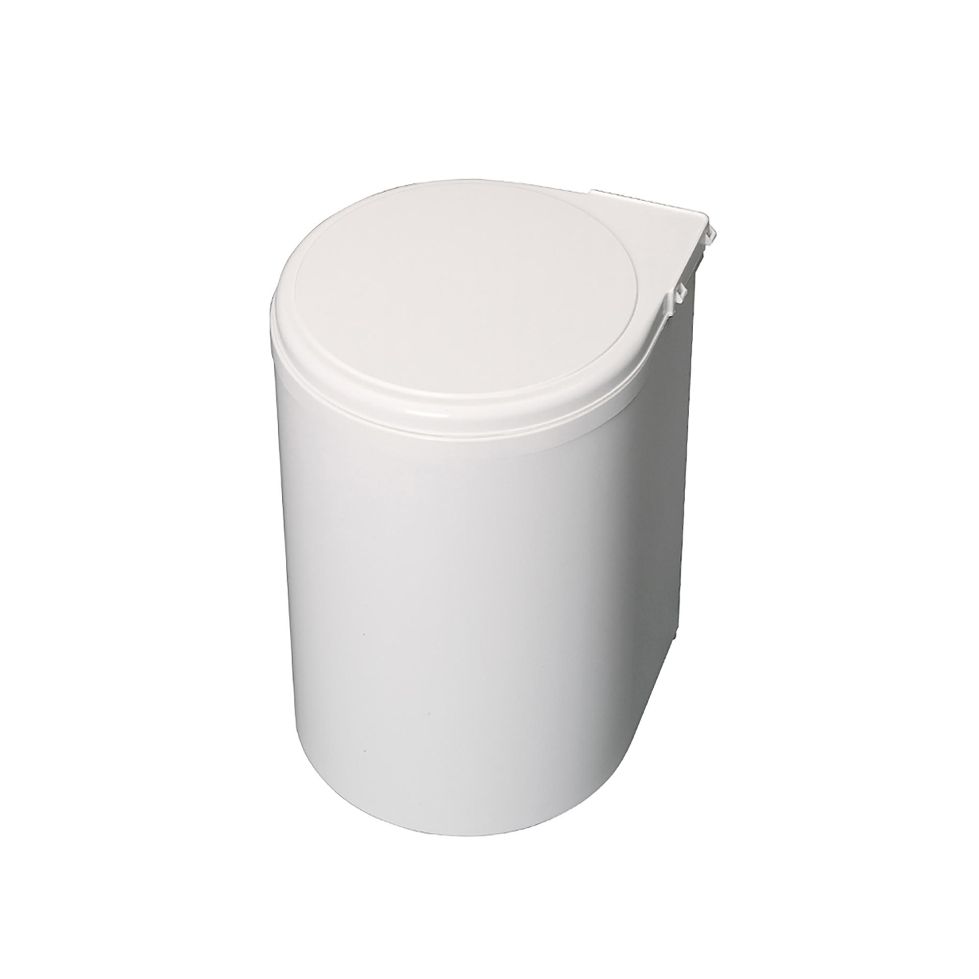 Emuca Pattumiera per differenziata, 13L, fissaggio all'anta, apertura automatica, Plastica, bianca.