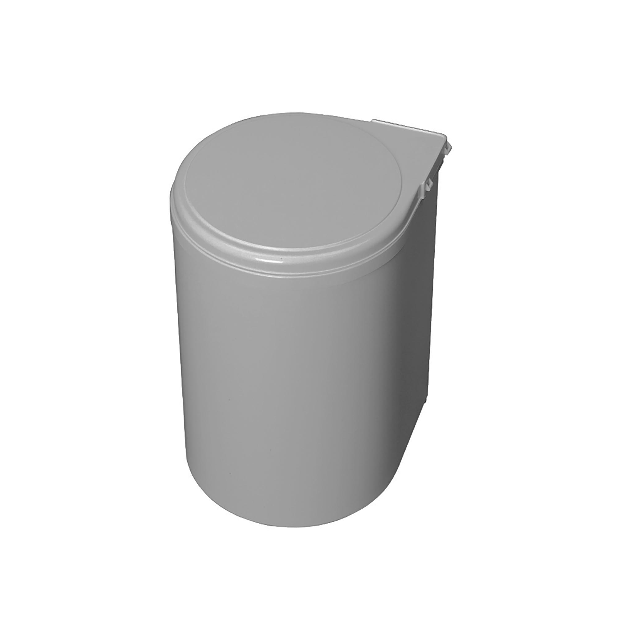 Emuca Pattumiera per differenziata, 13L, fissaggio all'anta, apertura automatica, Plastica, grigia.