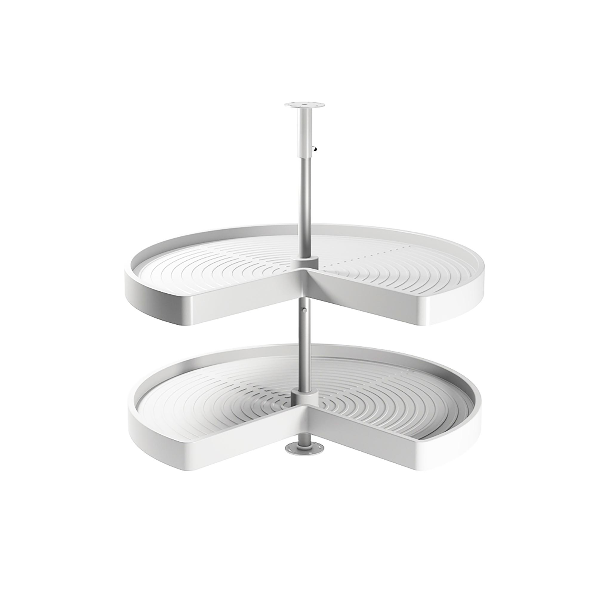 Emuca Kit Cestello girevole per mobile di cucina, 270º, modulo 800 mm, Plastica e allumnio, Bianco