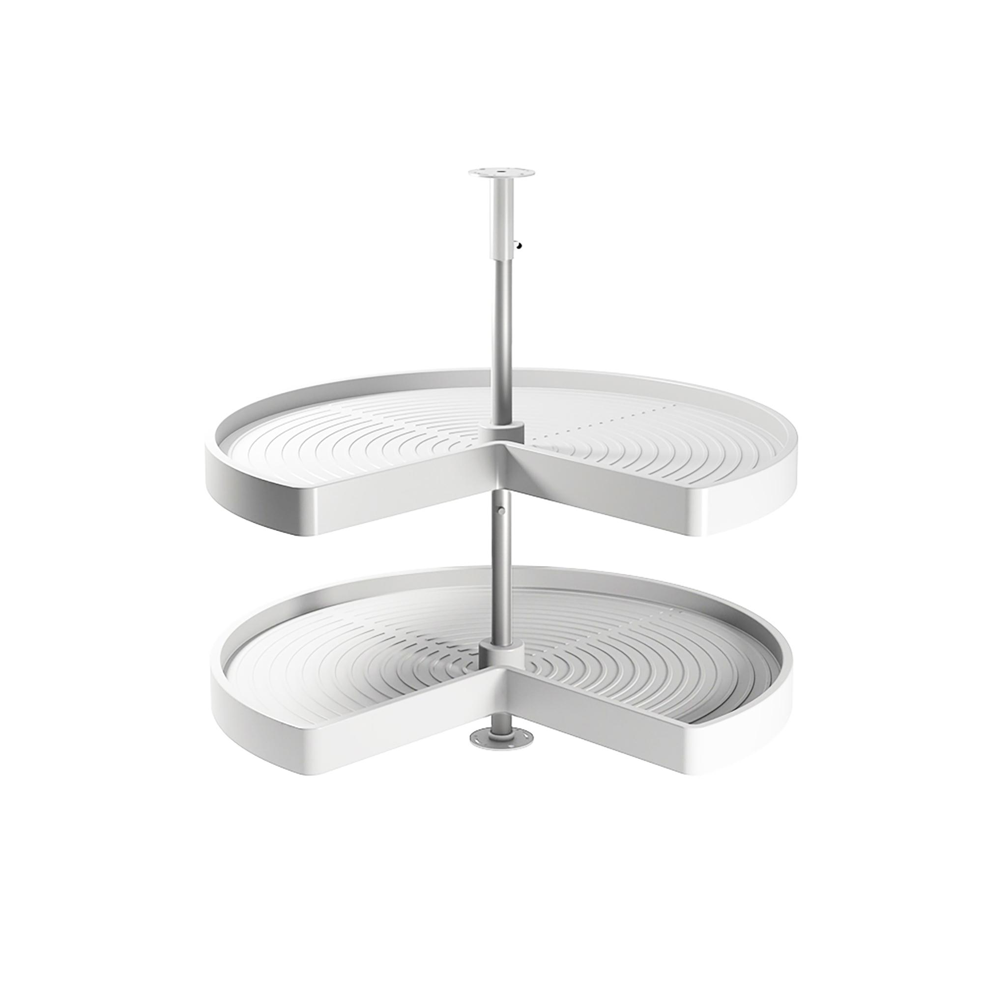 Emuca Cestello girevole per mobile da cucina, 270º, modulo 900 mm, Plastica e alluminio, Bianco