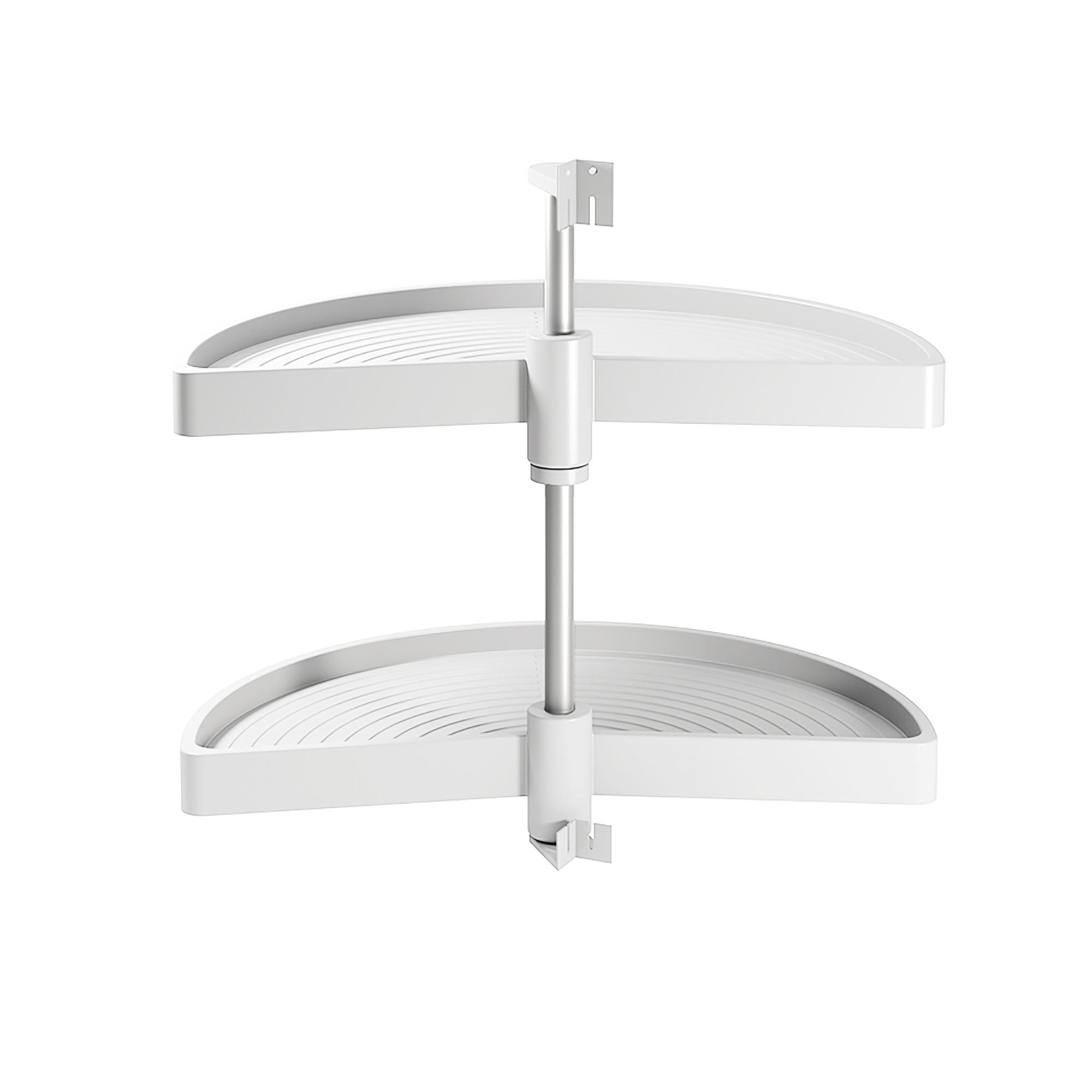 Emuca Cestello girevole per mobile da cucina, 180º, modulo 800 mm, Plastica, Bianco