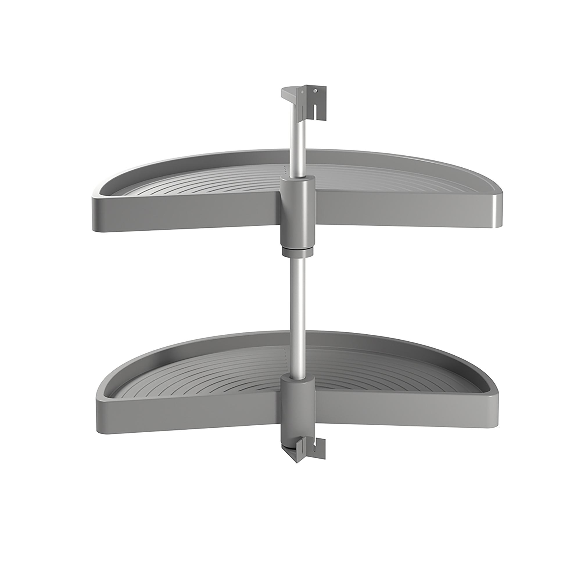 Emuca Cestello girevole per mobile da cucina, 180º, modulo 900 mm, Plastica, Grigio