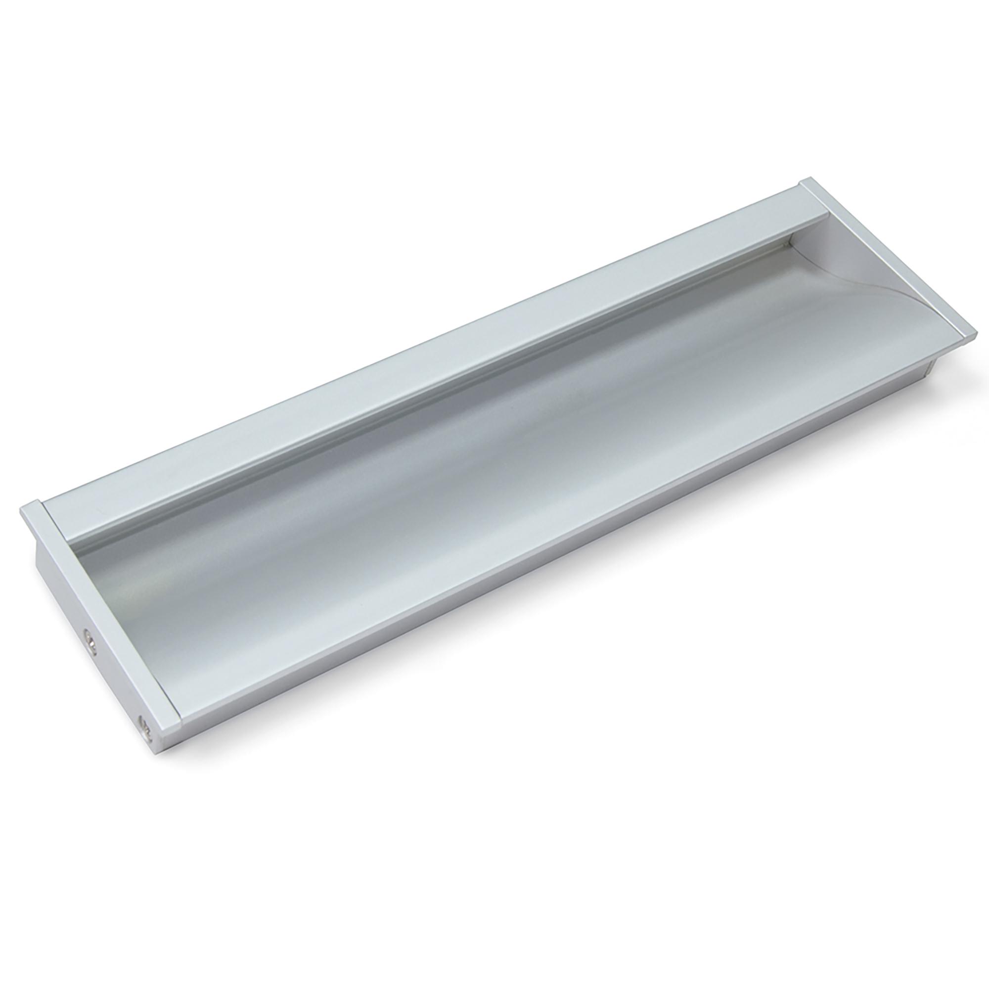 Emuca Maniglie per mobile, interasse 160 mm, Alluminio, Anodizzato opaco