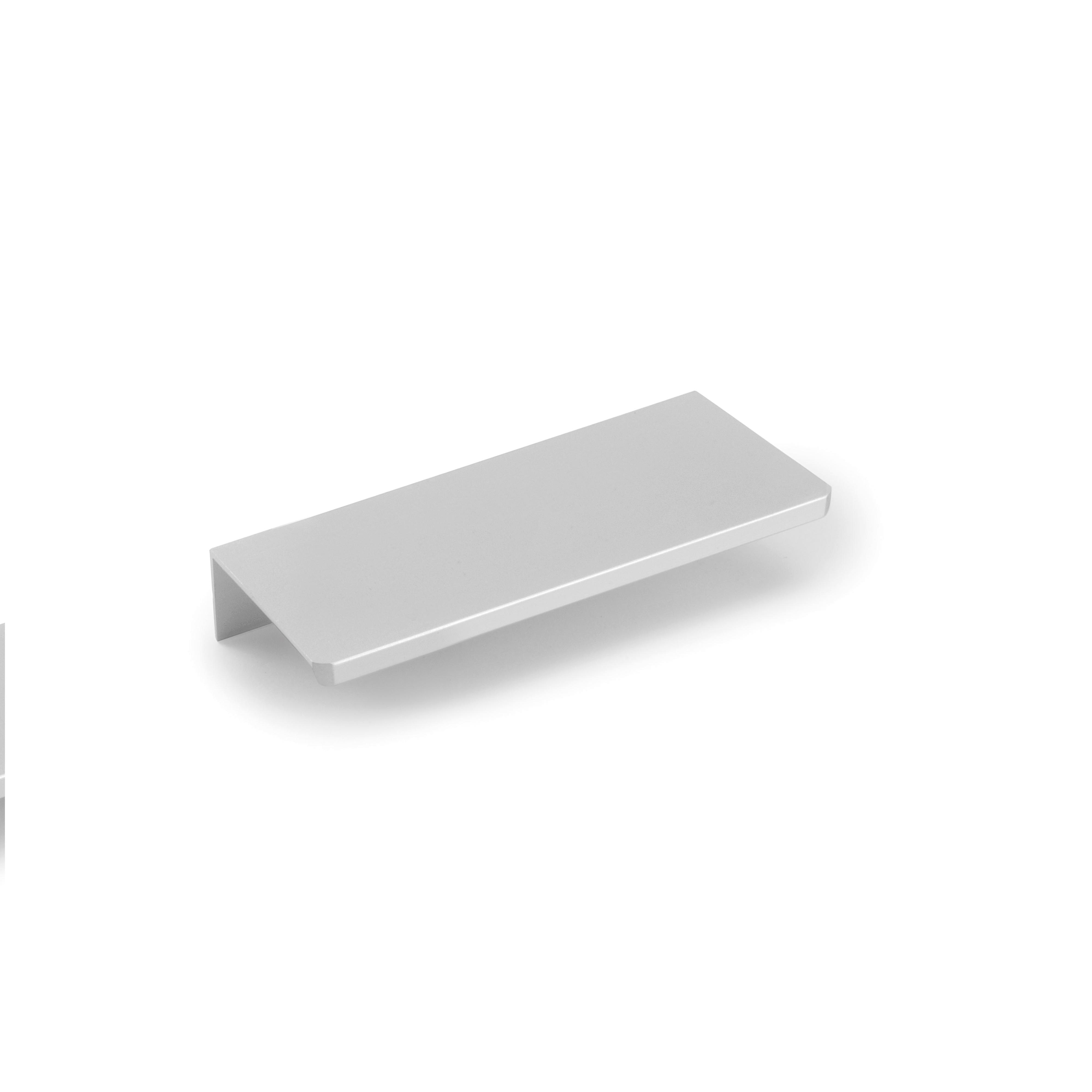 Emuca Maniglie per mobile, interasse 32 mm, Alluminio, Anodizzato opaco
