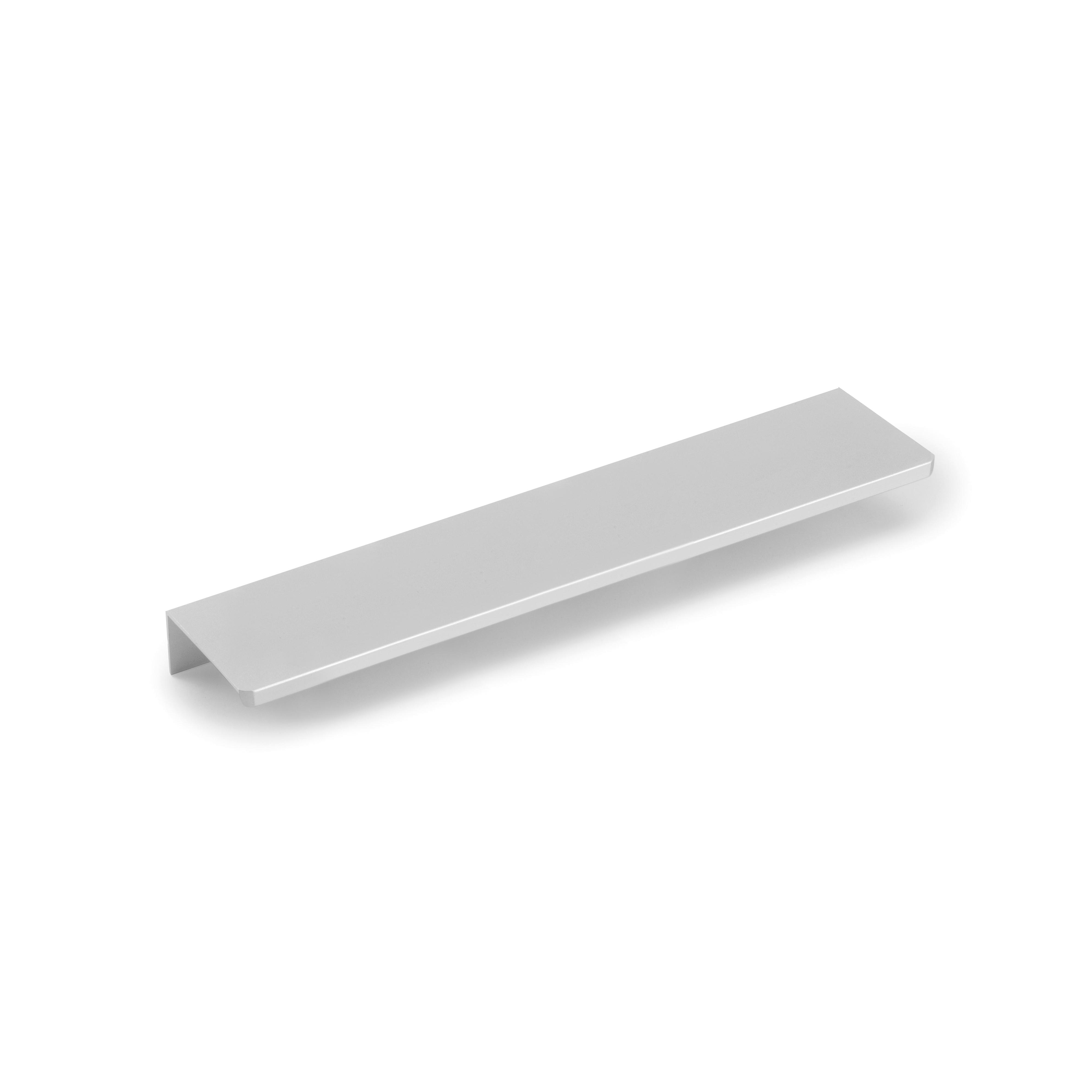 Emuca Maniglie per mobile, interasse 128 mm, Alluminio, Anodizzato opaco