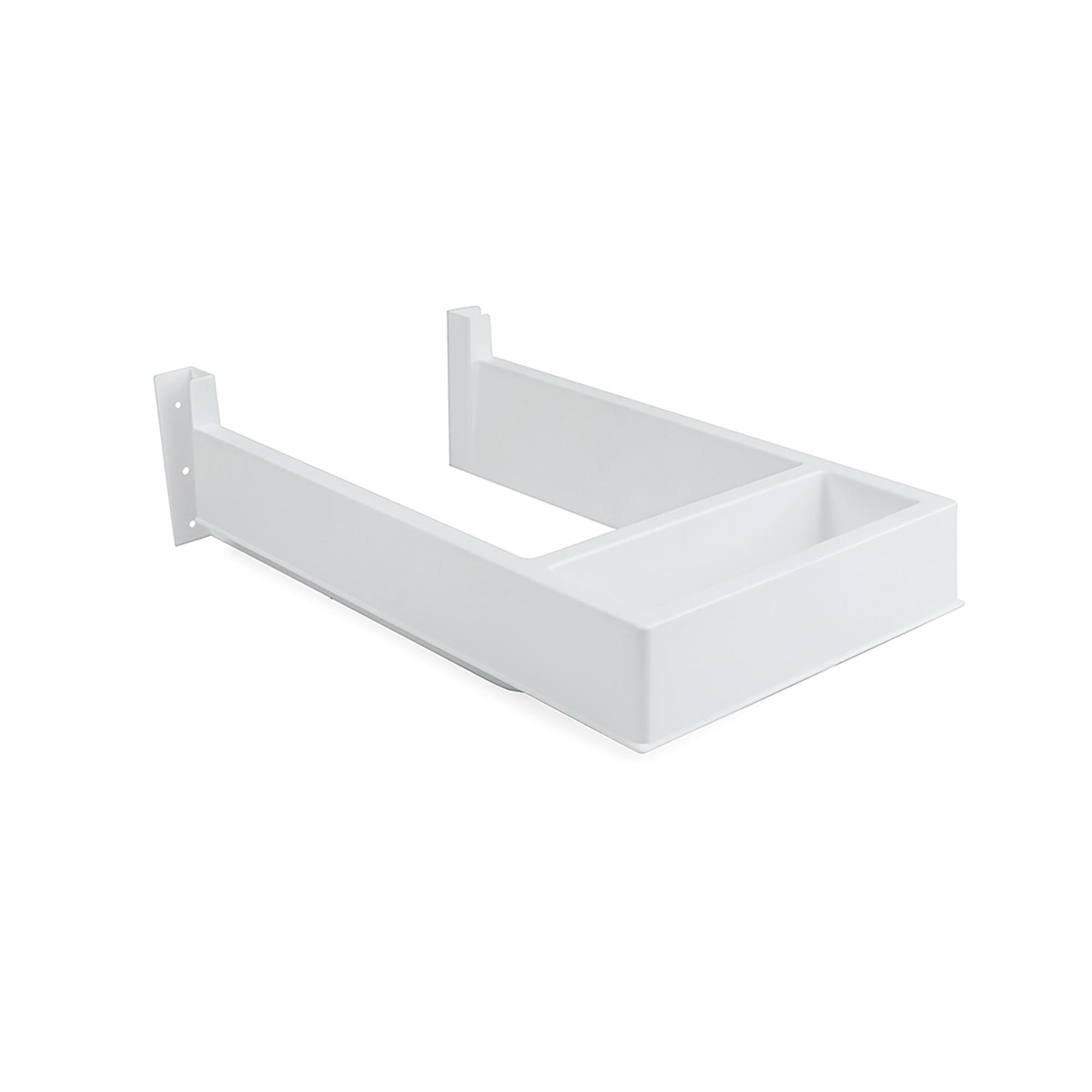 Emuca Salva sifone per cassetti del bagno, rettangolare, Plastica, Bianco
