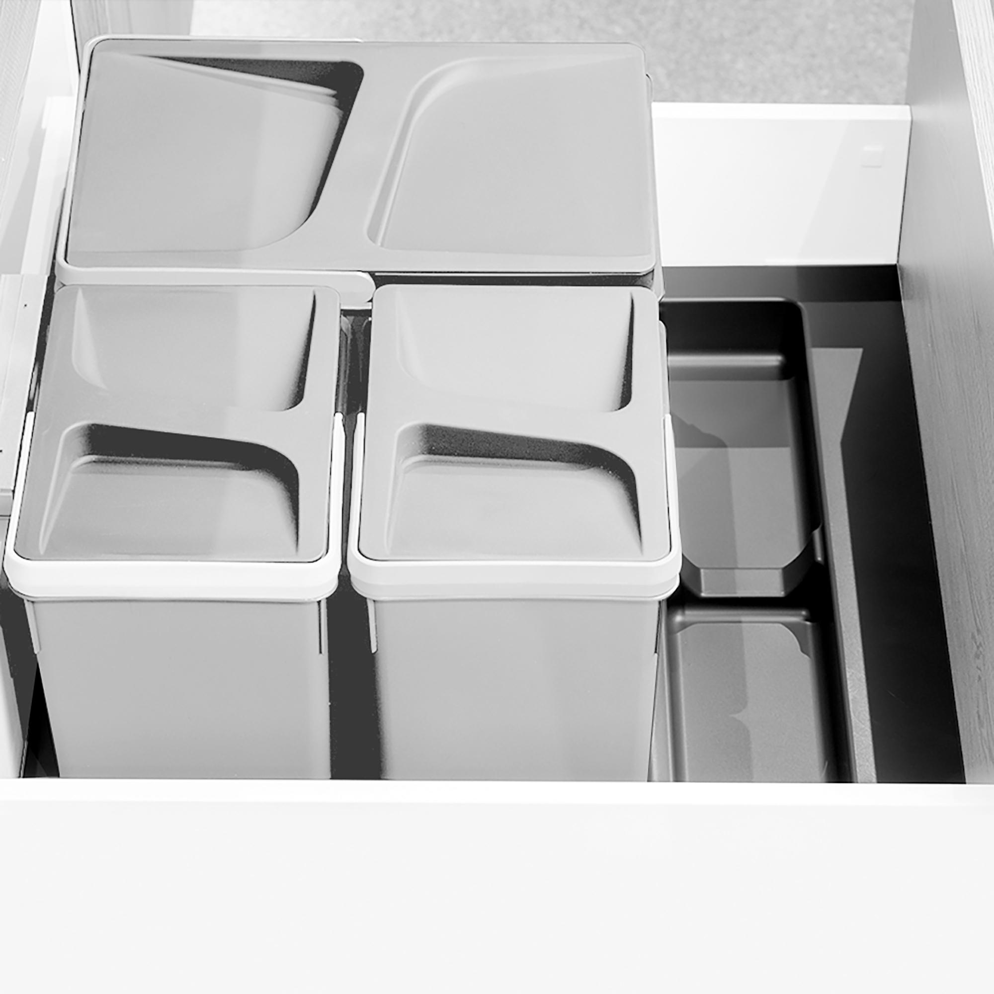 Emuca Base per contenitori per cassetti da cucina, modulo 600mm, Grigio antracite