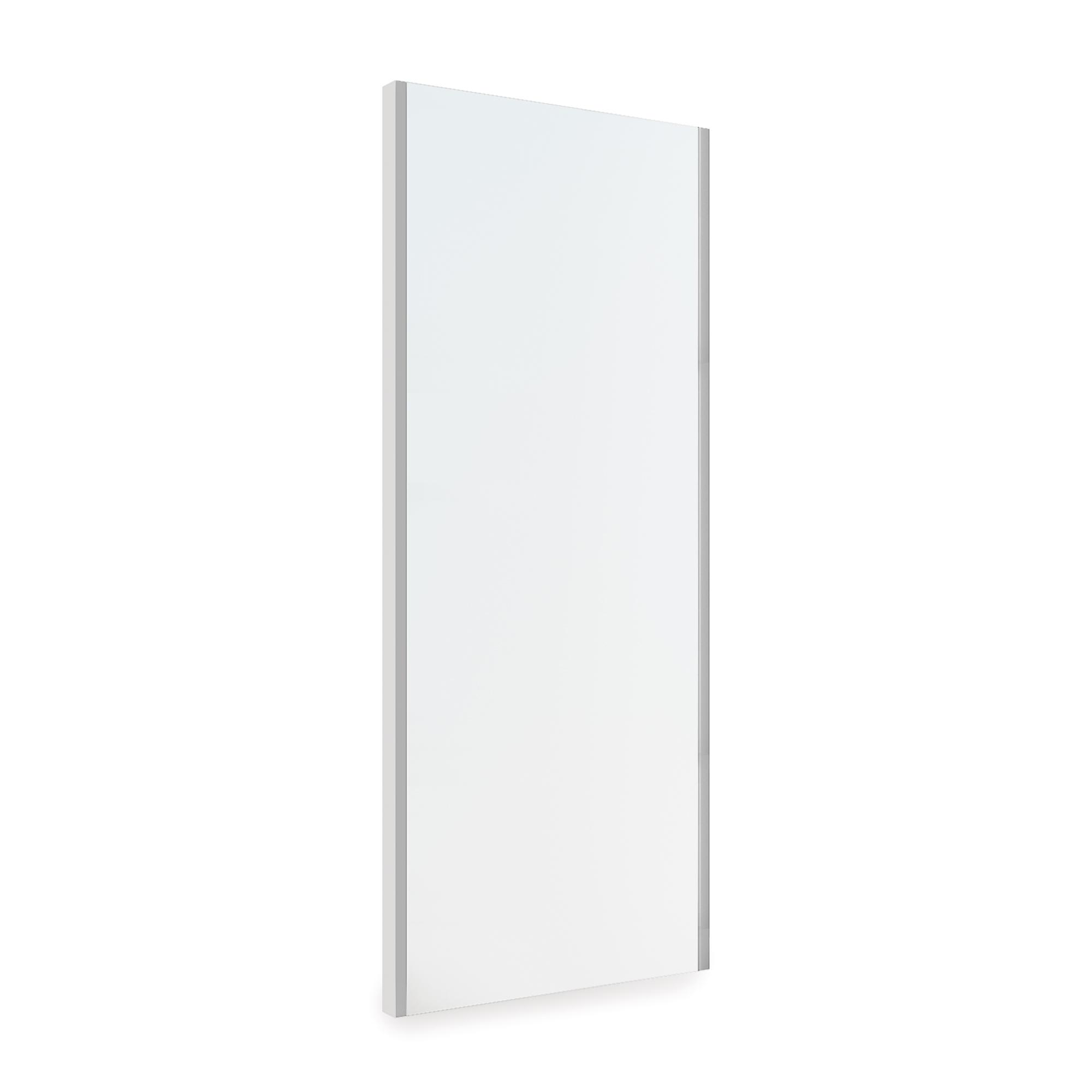 Emuca Specchio estraibile per interni di armadio, regolabile, 340 x 1000 mm, grigio metallizzato.